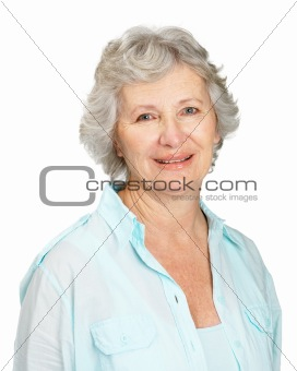 Portrait of a pretty senior female smiling