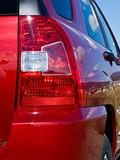 Close Up of a New Car Taillight