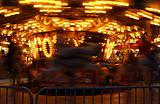 Carousel at an Annual County Fair with Motion Blur