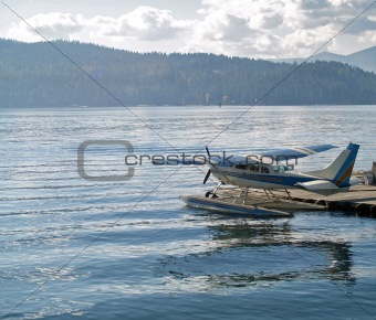 A Mountain Lake with a Water Plane - Coeur d'Alene Idaho USA