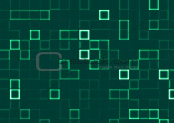 abstract background of mosaic green tiles
