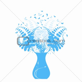 Beautiful floral and vase