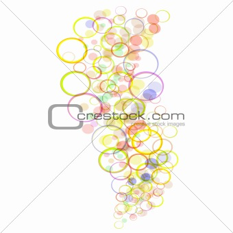 Abstract colorful grunge background from many colorful circles