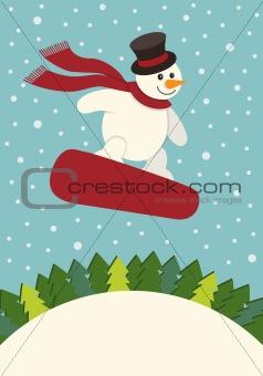 Snowman Snowboarding