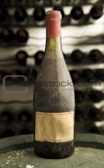 Bottle of old wine