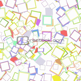 Abstract colored background from many boxes isolated on white