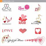 Vector icons: love