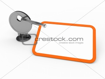 3d key attached orange