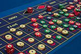 casino - american roulette table