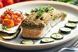 baked salmon with herbs eschar