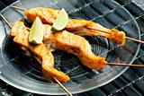 salmon skewers