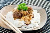 minced meat balls with mushrooms the Asian