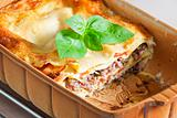 lasagna with minced turkey meat and tomatoes
