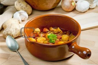 potato and sausage goulash