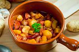 potato and sausage goulash