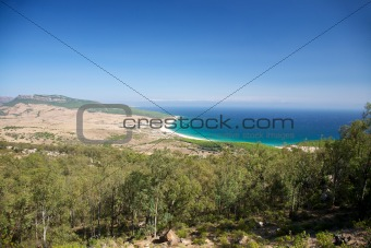 aerial view of Bolonia beach