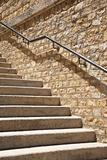stone steps with metal banister