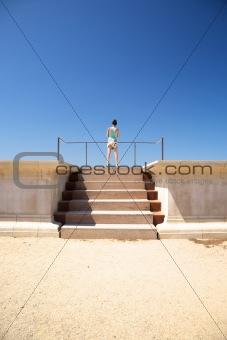 tourist upstairs