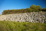 wall of stones in Menorca