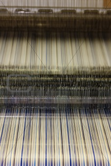 close up of textile machine