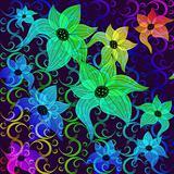 Rainbow transparent flowers