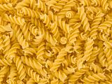 Closeup of Uncooked Italian Spiral Pasta - Rotini