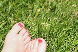 Barefeet in the grass
