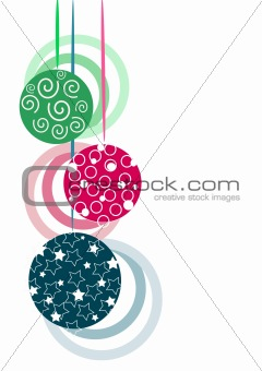 Three glasses christmas tree balls
