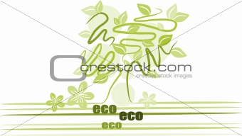 Green tree - illustration vector.