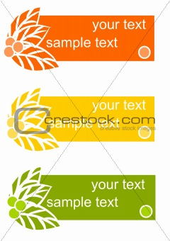 Three colorful cards - Vector