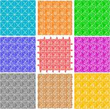 Set of elegant retro seamless patterns wallpaper background