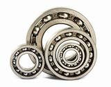 Four steel ball bearings