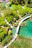Plitvicka lake, aerial view - Croatia