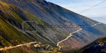 Mountain road from Serra de Estrela, Portugal