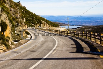 Mountain road from Serra de Estrela, Portugal