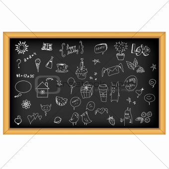 School Board With Manual Drawn