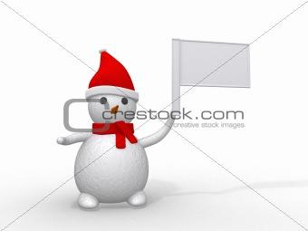 3d snowman which banner
