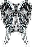 heraldic cross  tattoo emblem