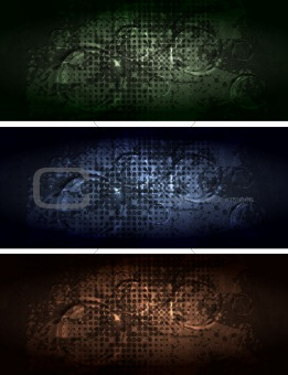 Grunge style banners