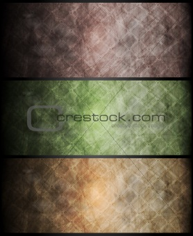 Abstract textural banners