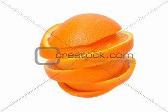 Sliced orange closeup