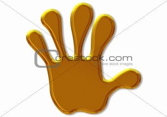gold hand