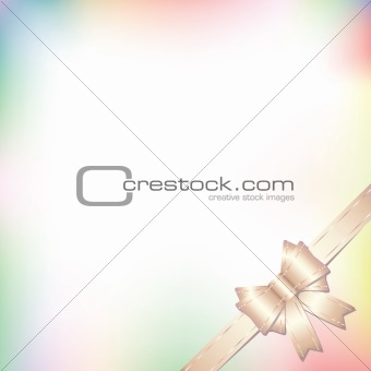 background with bow in pastel colors