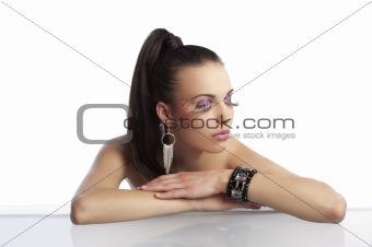 beauty shot with creative eyelashes