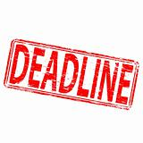 Deadline Rubber Stamp