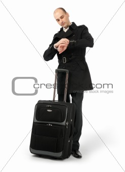 business man at the airport lounge waiting for his flight