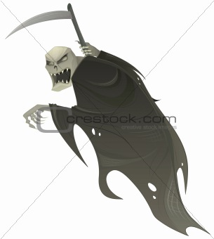 Vector grim reaper.