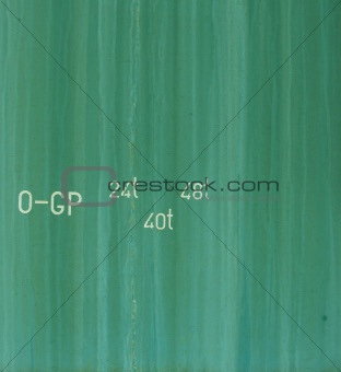 abstract green grunge background with white font and number