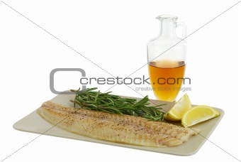 Seasoned fish  fillet with healthy ingredients