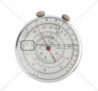 antique Russian circular slide rule